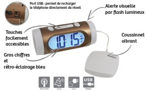 Digital alarm clock with vibrator - AIC International