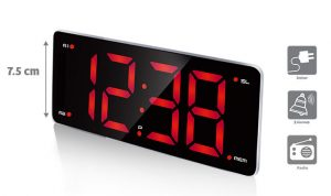Radio-Réveil à LED chiffres XXL Fortis - AIC International