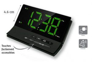 Clock-radio with big figures - AIC International