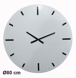 Horloge Métal White Ø80cm - AIC International