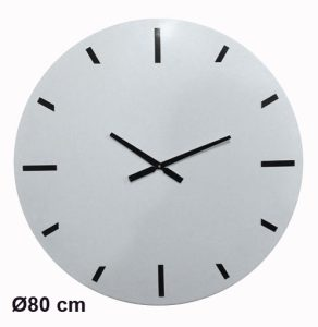 White metal clock  Ø80cm - AIC International