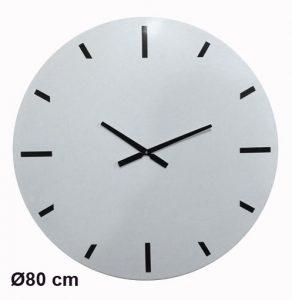 White metal clock  Ø80cm - AIC International