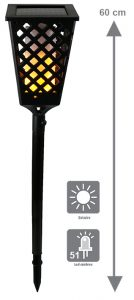 Flambeau solaire 51 LED Blaze - AIC International