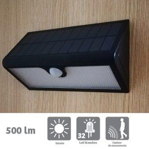 Applique solaire Lausane 500lm avec détection - AIC International