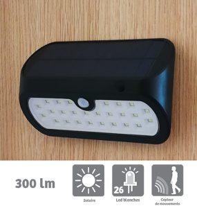 Applique solaire Marly 300lm avec détection - AIC International