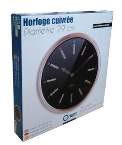 Horloge cuivrée  Ø29cm