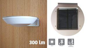 Applique solaire 300lm Uster avec détection radio - AIC International