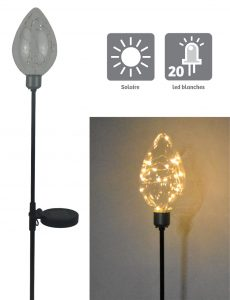 Décoration solaire Electra 20 Led 87cm - AIC International