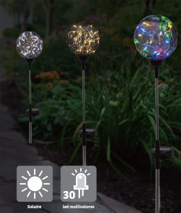 Décoration solaire Electro 30 Led 78cm - AIC International