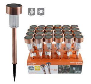 Copper solar light H36.5cm - AIC International