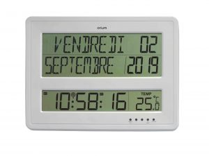 Horloge digitale calendrier RC