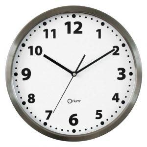 Inox basic clock  Ø34cm - AIC International