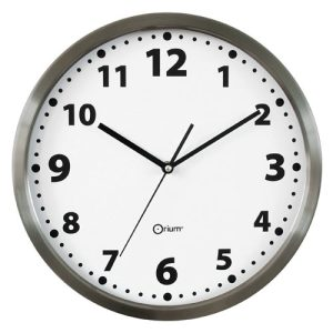Inox basic clock  Ø34cm - AIC International