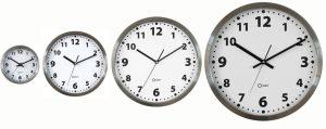 Horloge basique inox Ø34cm