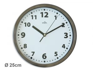Horloge basique inox Ø25cm - AIC International