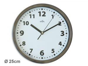 Inox basic clock Ø25cm - AIC International