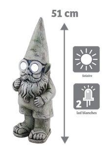 Nain lumineux solaire Alphonse H51cm - AIC International