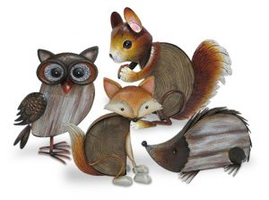 Écureuil décoratif Noisette H30 cm