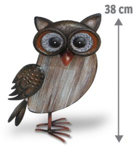 Hibou décoratif Florette H38cm - AIC International
