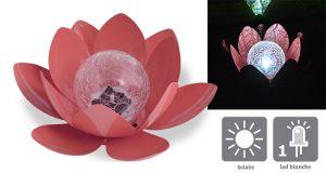 Déco lumineuse Solaire Lotus - AIC International