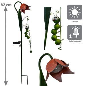 Décoration solaire Flora H86.5cm - AIC International