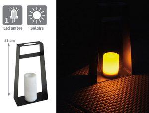 Lanterne solaire Elitis H51cm - AIC International