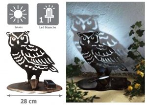 Hibou lumineux solaire Shadow - AIC International