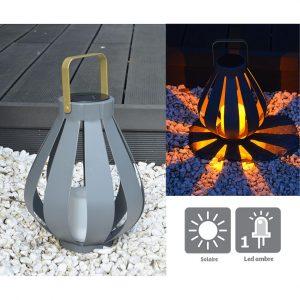Lanterne solaire Alya H25cm - AIC International