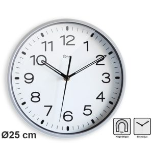Horloge silencieuse magnétique - AIC International
