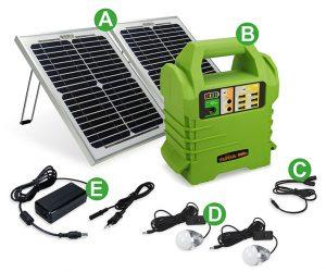 Batterie Autonome à Recharge Solaire 168Wh - AIC International