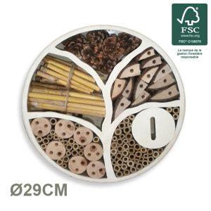 Hôtel à insectes mural Eden Ø29 FSC® certifié 100% - AIC International
