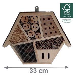 Hôtel à insectes Gallica 33cm FSC® certifié 100% - AIC International