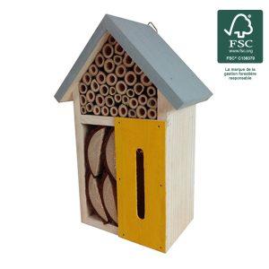 Hôtel à insectes Rubio H24 cm FSC® certifié 100% - AIC International
