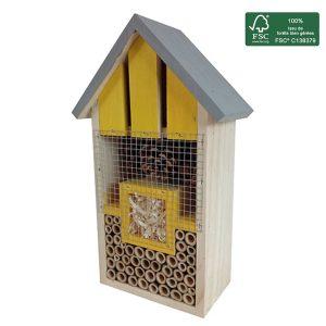 Hôtel à insectes Carrie H30 cm FSC® certifié 100% - AIC International