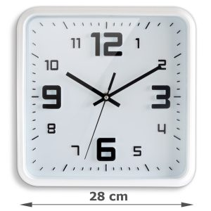 Square clock 28 cm - AIC International
