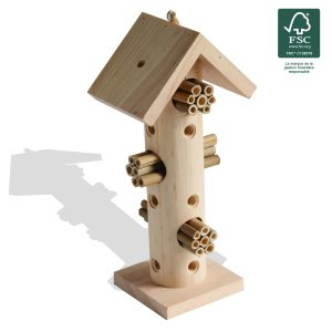 Insect hotel Paco H29.5 cm FSC® certified 100% - AIC International