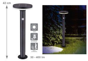 Lampe solaire Memphis 75-400lm - AIC International