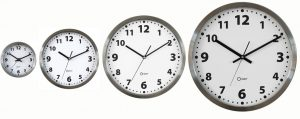 Horloge inox Ø 15 cm