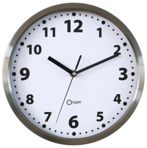 Inox clock Ø 15 cm - AIC International