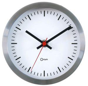 Horloge inox gare Ø15 cm