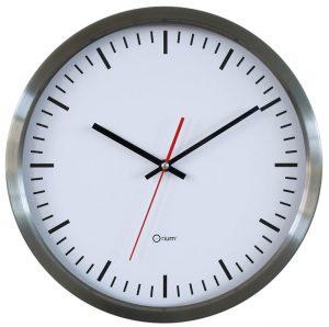 "Inox clock ""station"" Ø 34 cm - AIC International"