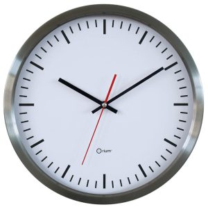 "Inox clock ""station"" Ø 34 cm - AIC International"