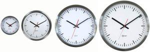 Horloge inox gare Ø 35 cm