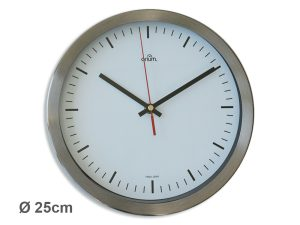 "Inox clock ""station""  Ø 25 cm - AIC International"
