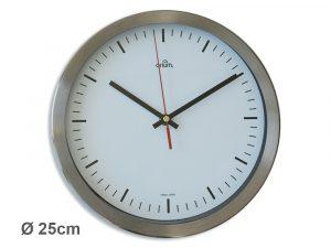 "Inox clock ""station""  Ø 25 cm - AIC International"