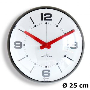 Horloge Bulle noire Ø25 cm - AIC International