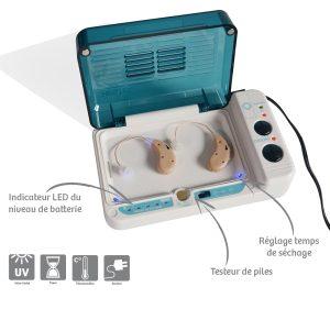 Boîte de séchage pour amplificateurs d'écoute - AIC International
