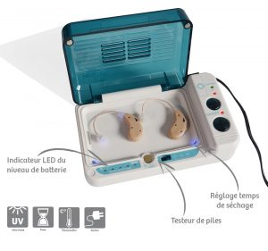 Drying box for hearing amplifiers - AIC International