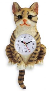 Horloge chat balancier 24cm - AIC International