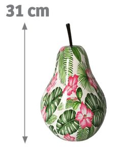 Poire décorative fleurie Aden 31cm - AIC International